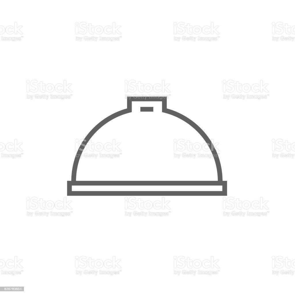 Restaurant cloche line icon vector art illustration