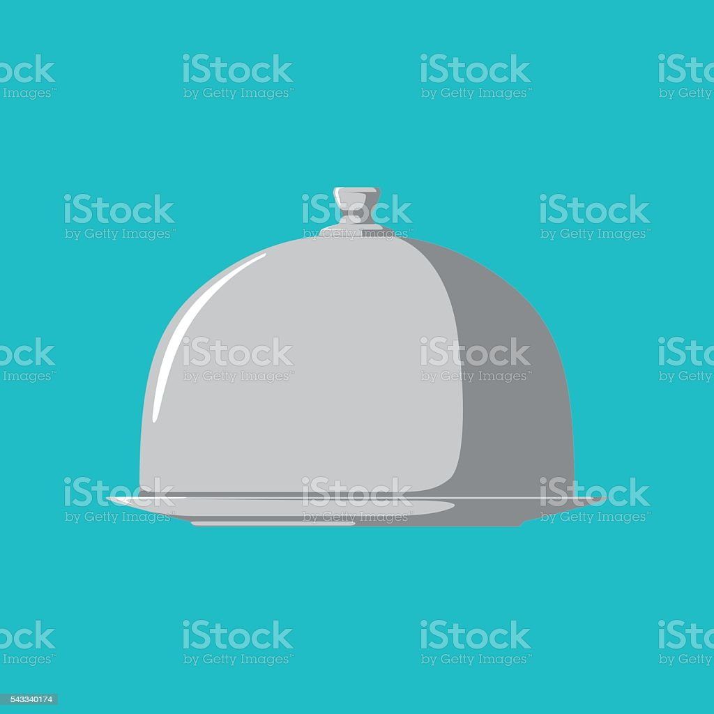 Restaurant Cloche vector art illustration
