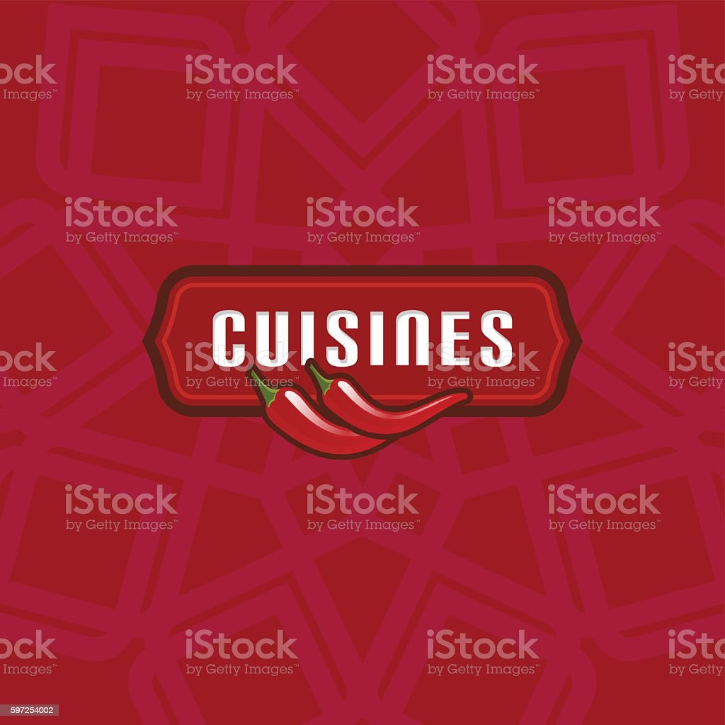 Restaurant Cuisine Logo icon design template. vector art illustration