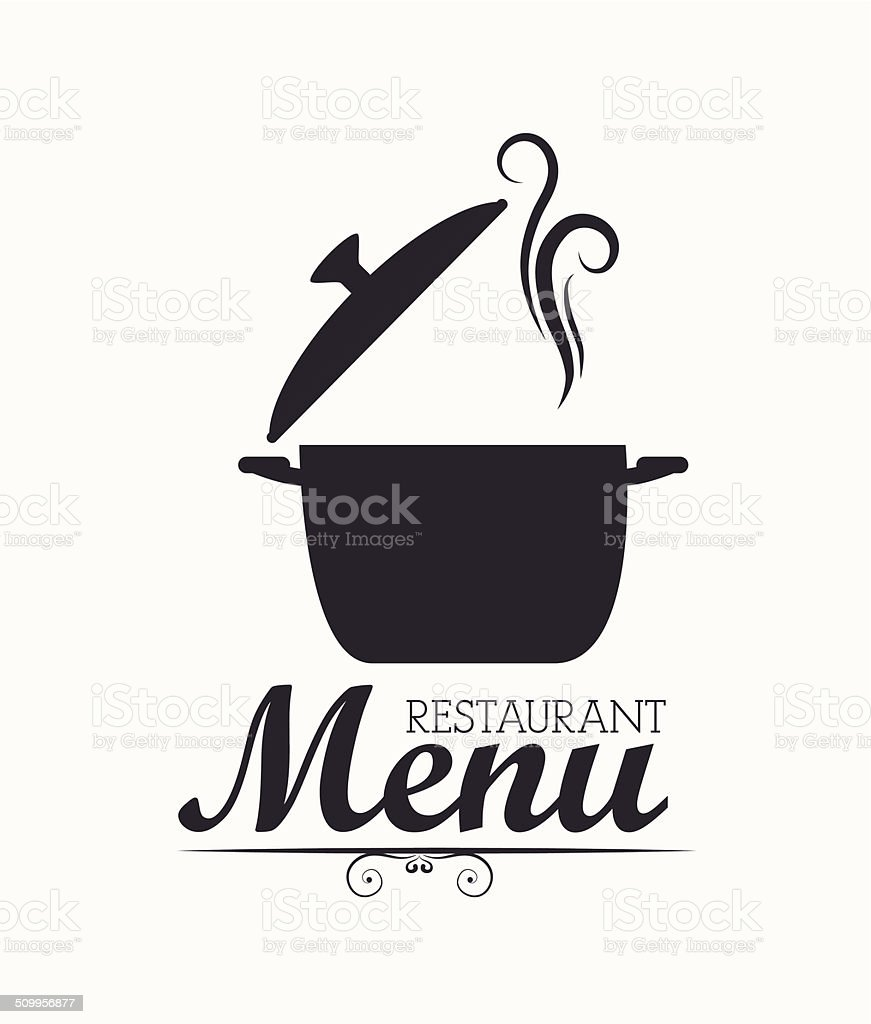 Restaurant design vector art illustration