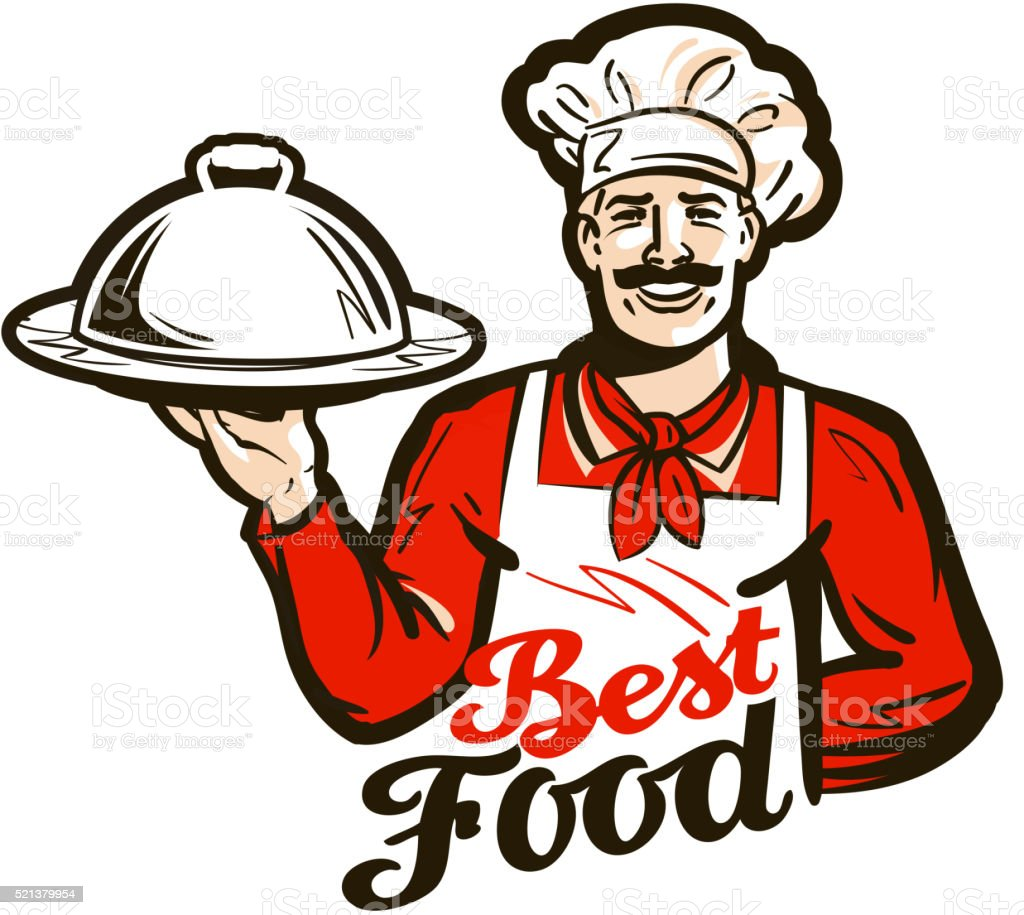 restaurant, diner vector logo. dish, meal, food or chef icon vector art illustration
