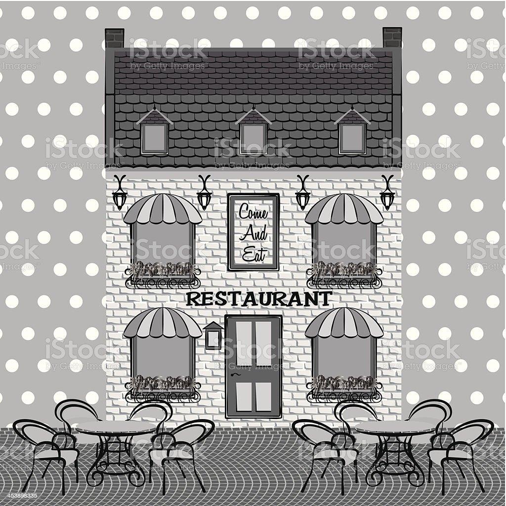Restaurant facade royalty-free stock vector art