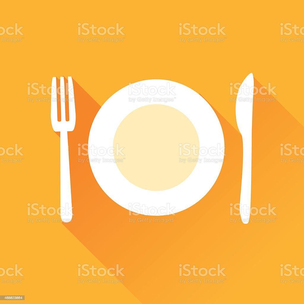 Restaurant Flat Icon vector art illustration