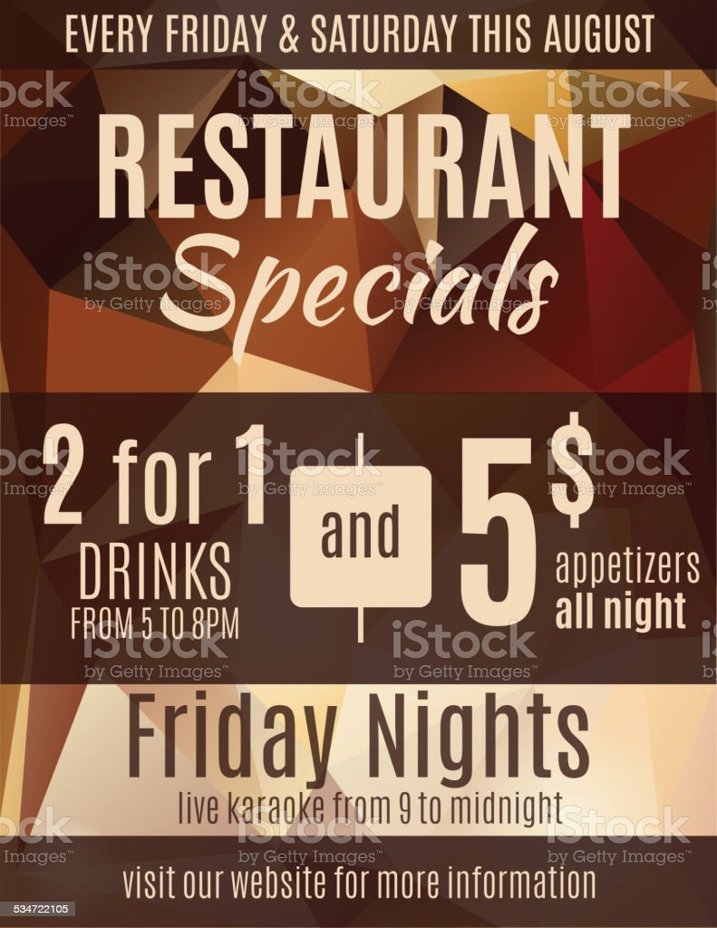 restaurant flyer advertisement template stock vector art 534722105 1 credit