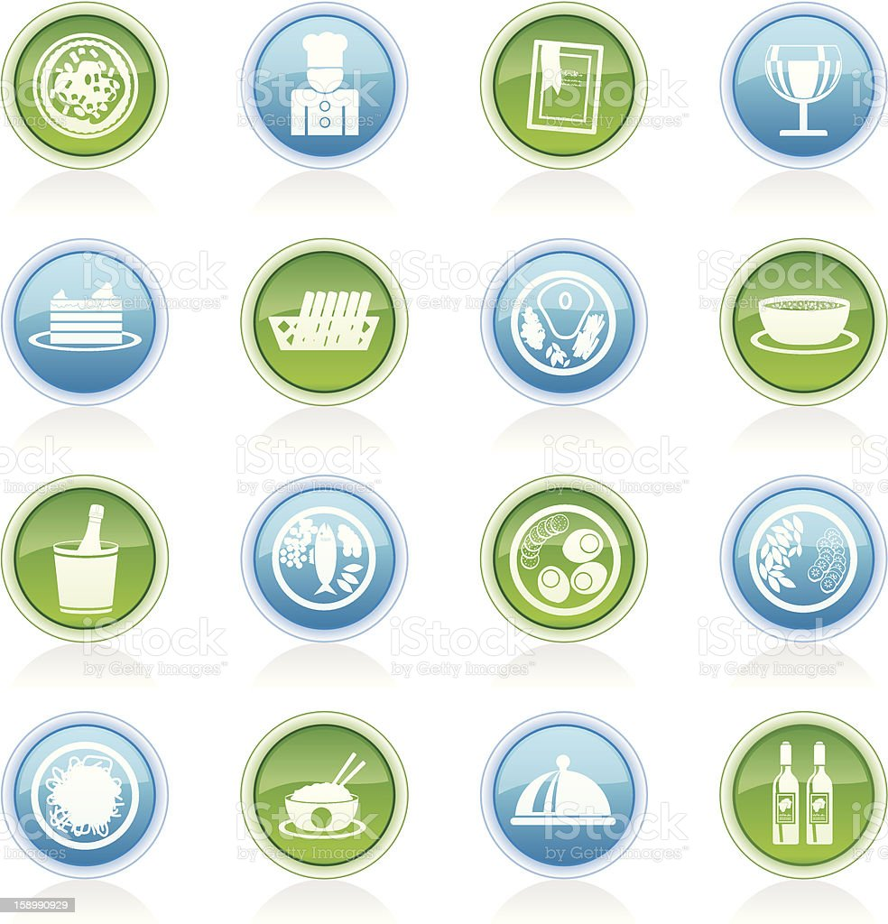 Restaurant, food and drink icons stock photo