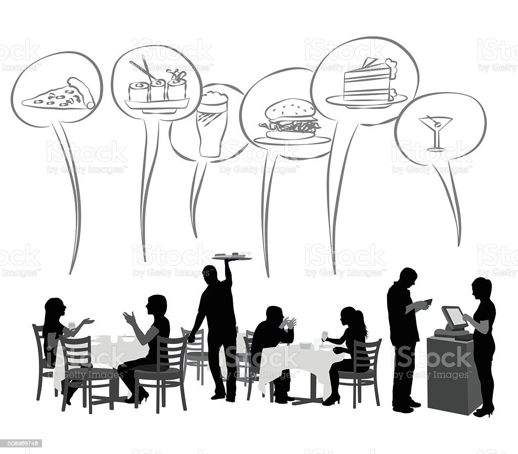 Restaurant Food Favorites vector art illustration