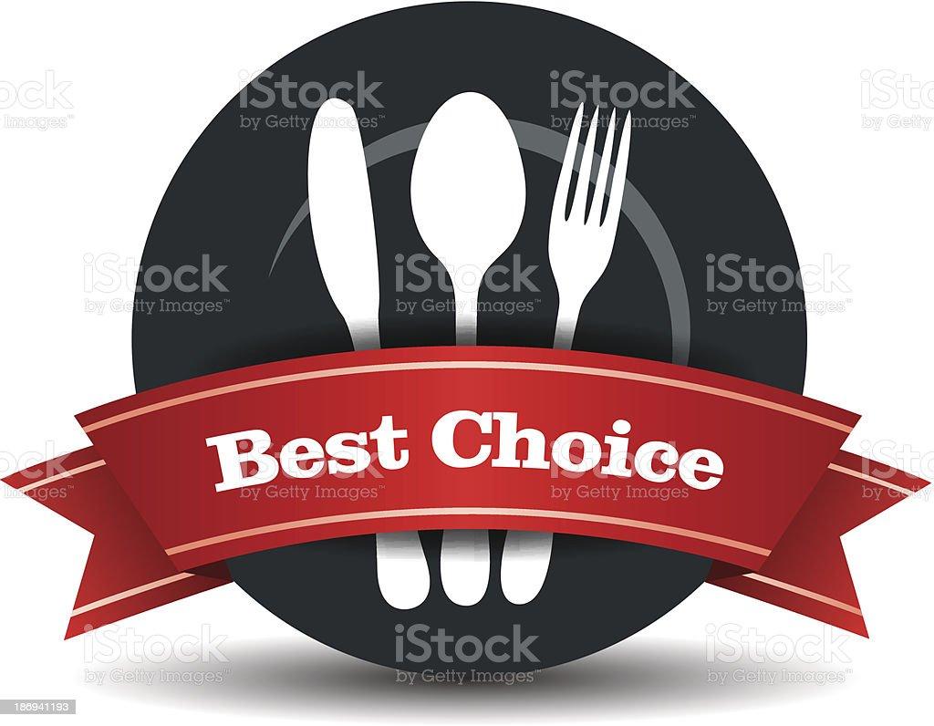 Restaurant Food Quality Badge vector art illustration