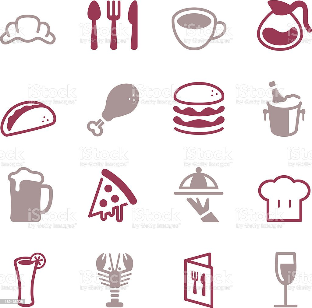 Restaurant Icons - Color Series vector art illustration