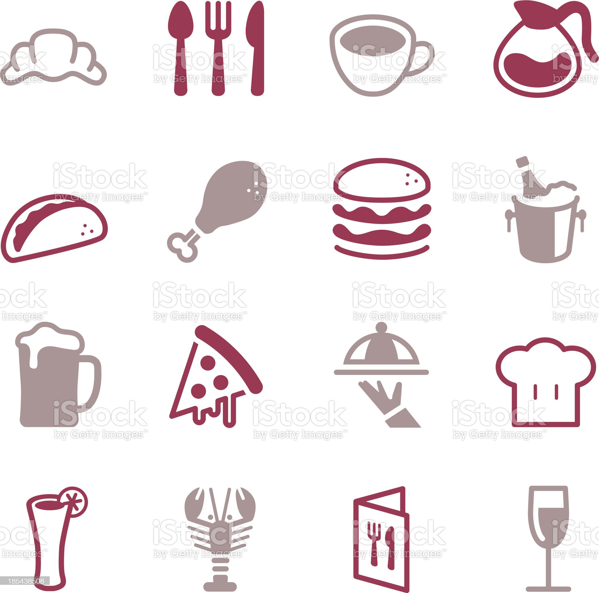 Restaurant Icons - Color Series royalty-free stock vector art