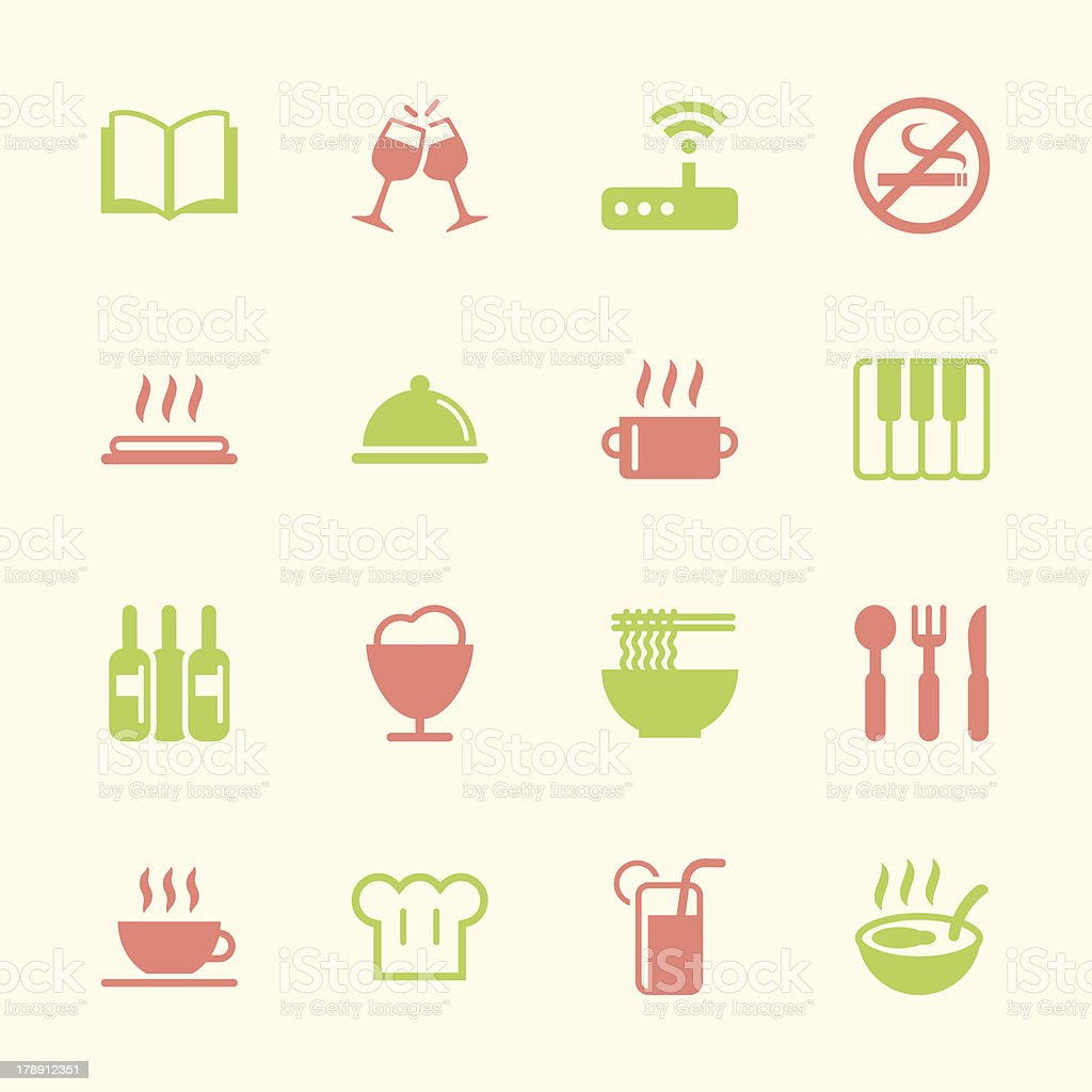 Restaurant Icons Set 2 - Color Series | EPS10 royalty-free stock vector art