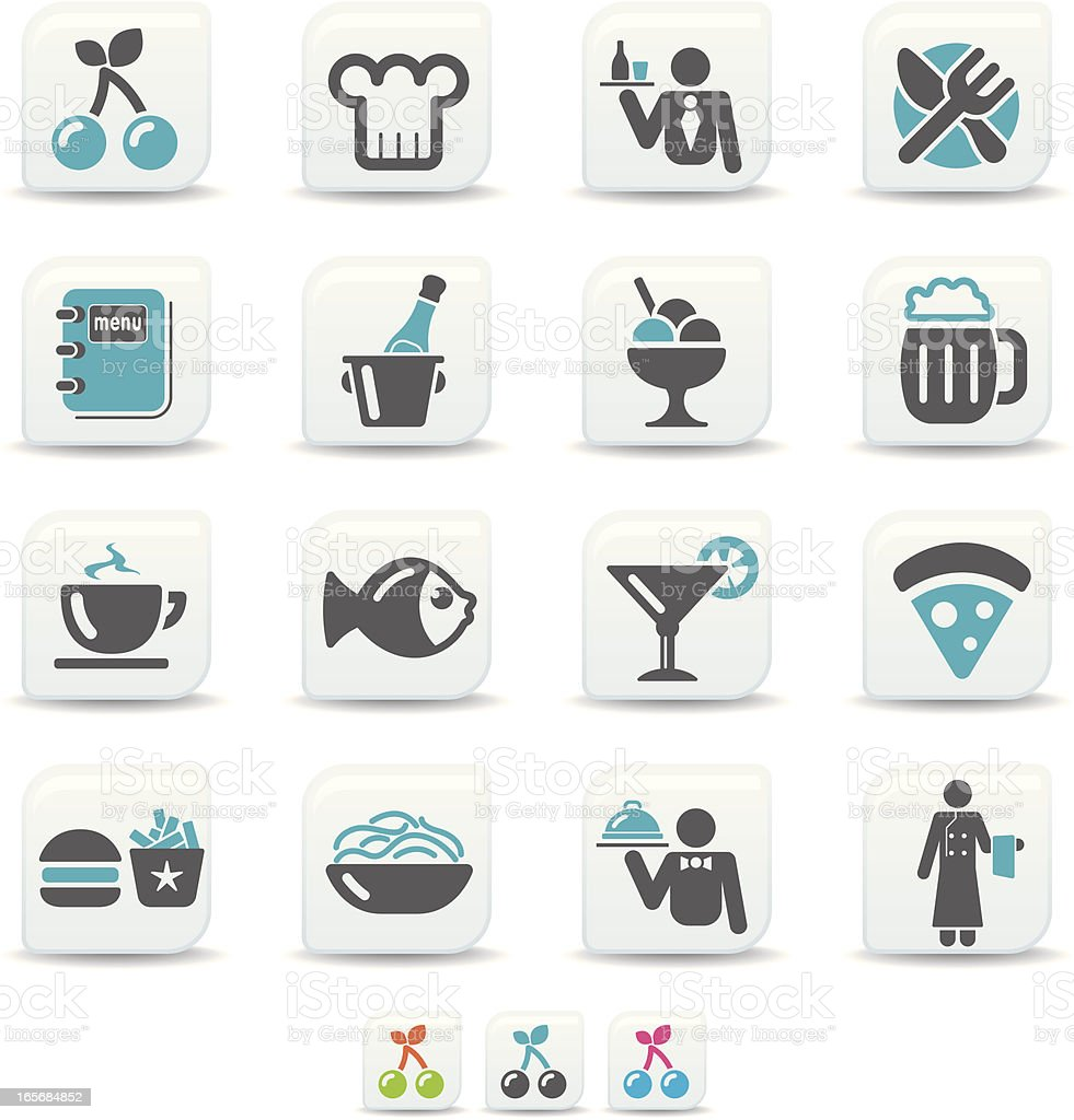 restaurant icons | simicoso collection vector art illustration