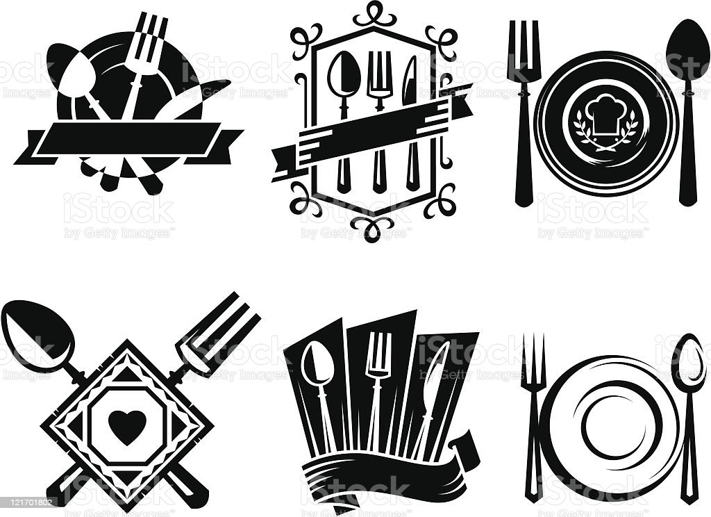 restaurant icons royalty-free stock vector art