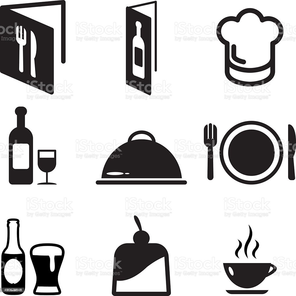 Restaurant Icons vector art illustration