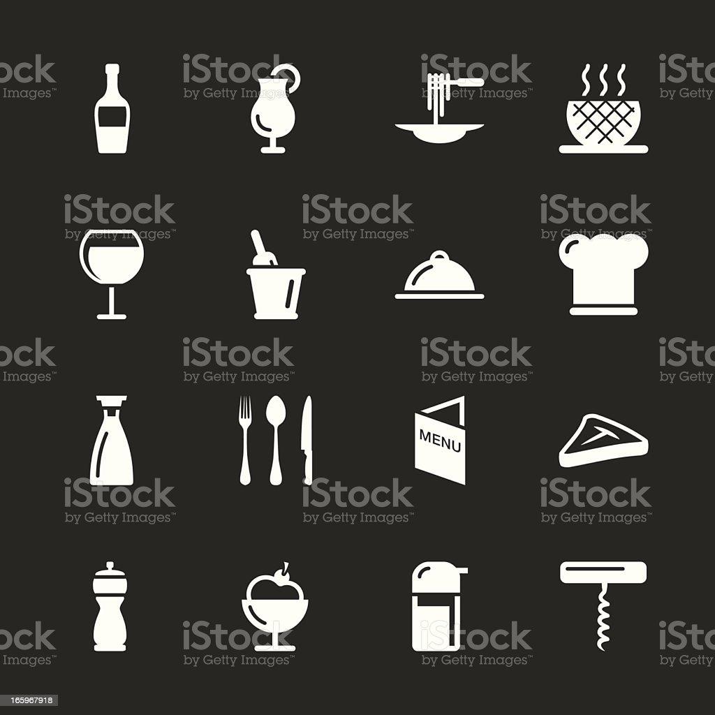 Restaurant Icons - White Series   EPS10 vector art illustration
