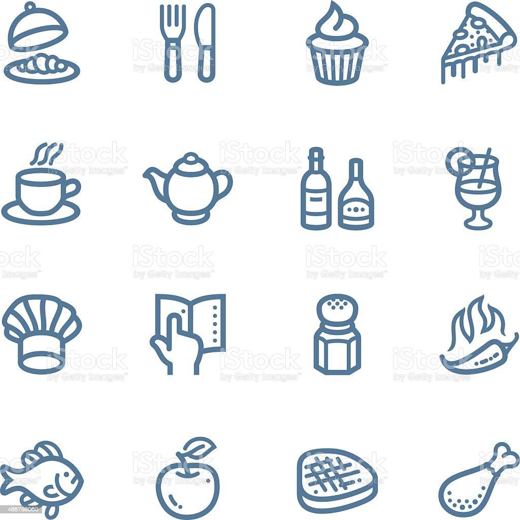 Restaurant Line icons vector art illustration