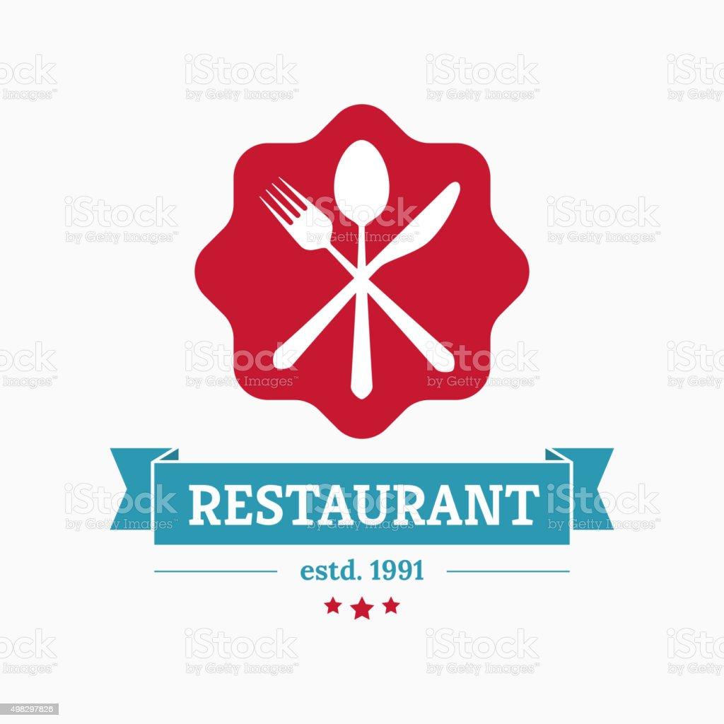 Restaurant logo template vector art illustration