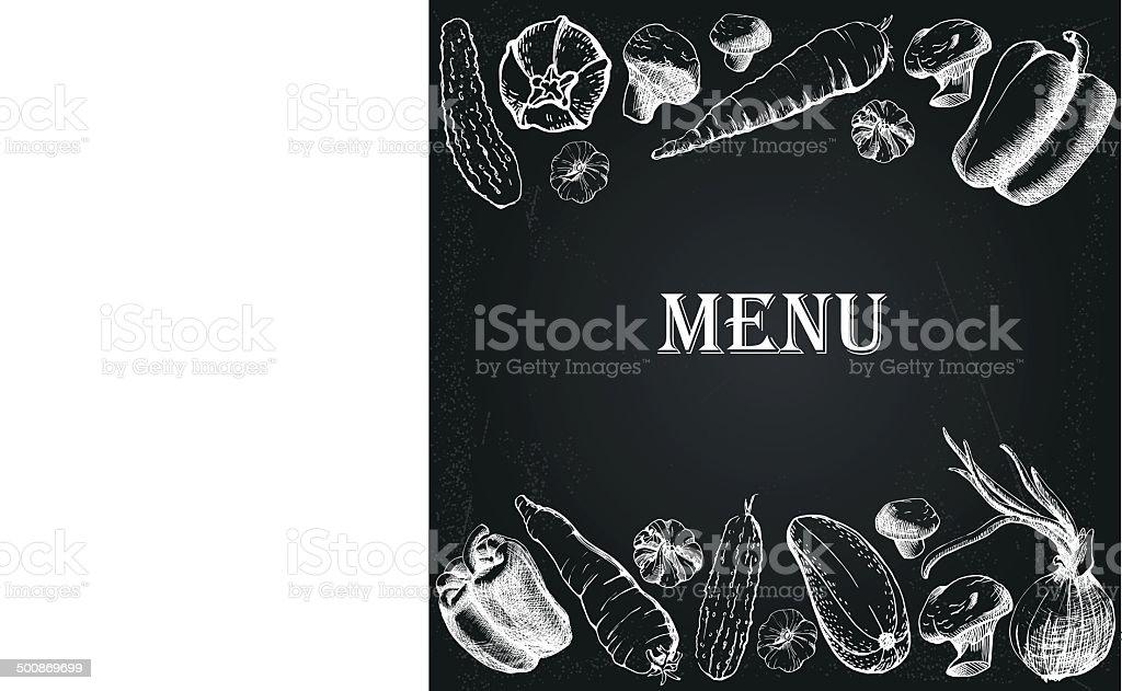 restaurant menu 7 vector art illustration