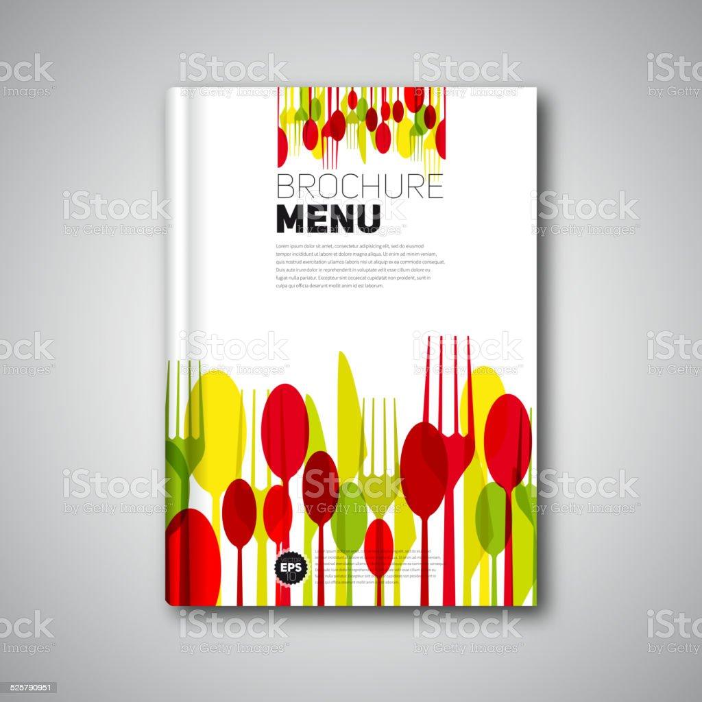 Book Cover Design Vector : Restaurant menu card design template brochure book cover