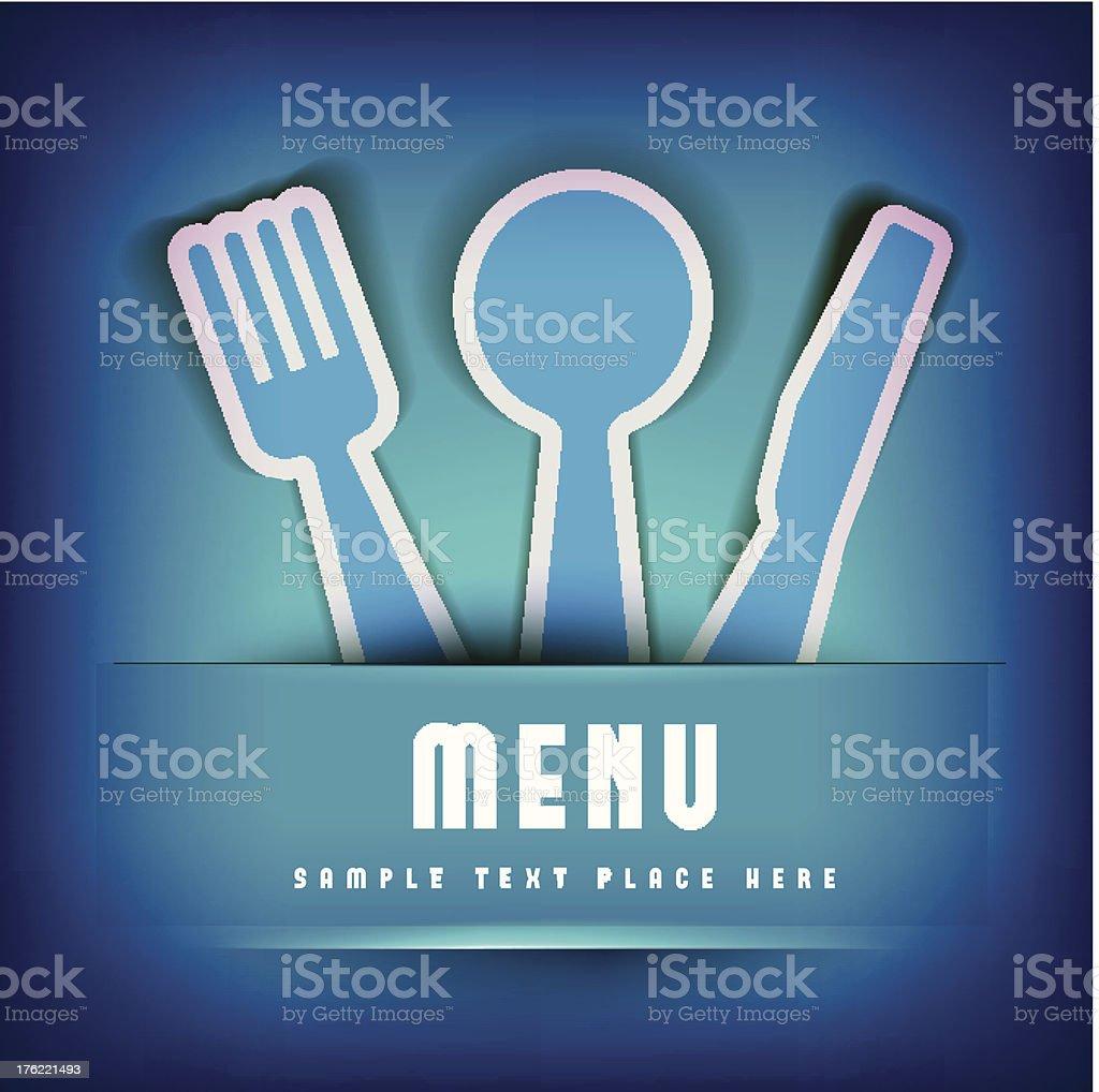 Restaurant Menu Card Design template royalty-free stock vector art