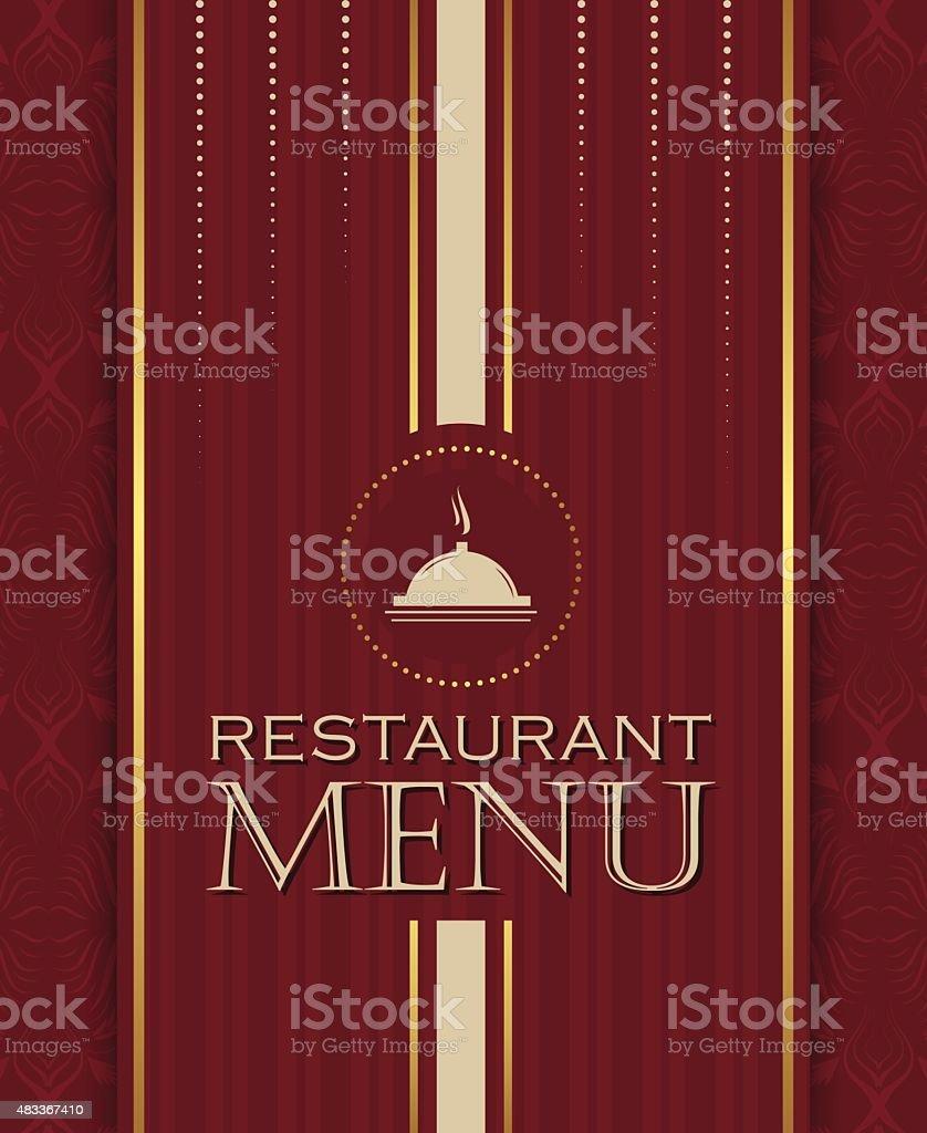 restaurant menu design cover template in retro style stock vector