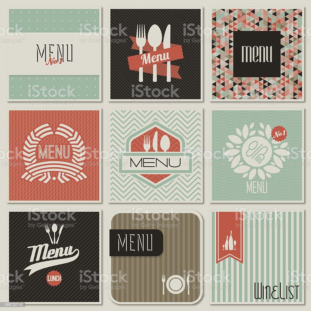Restaurant menu designs. royalty-free stock vector art