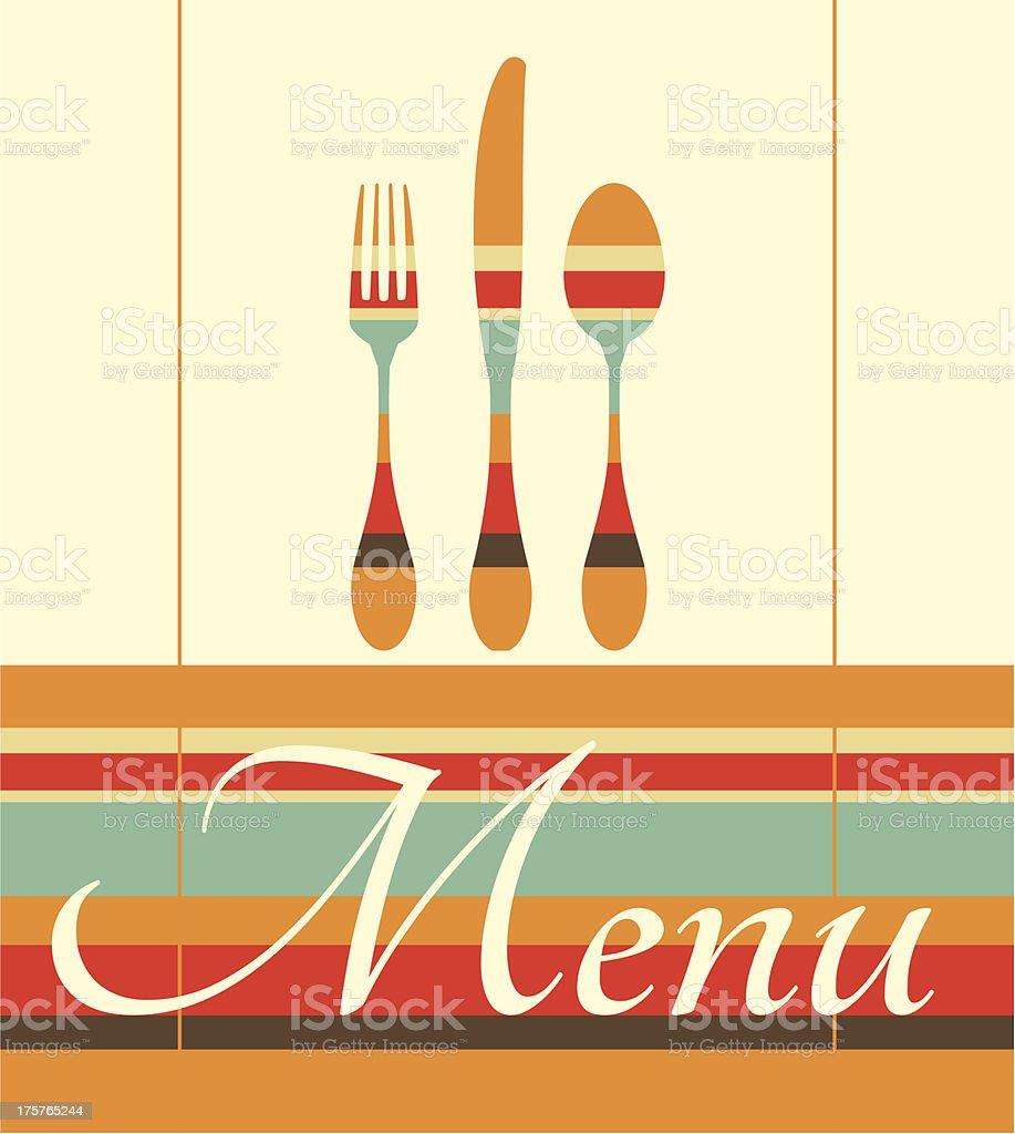 Restaurant menu illustration royalty-free stock vector art