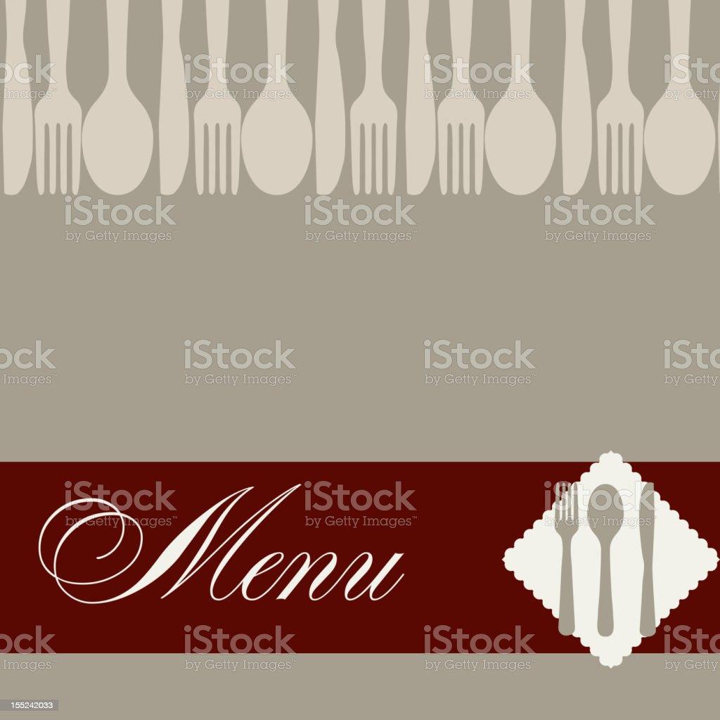 Restaurant menu template vector illustration royalty-free stock vector art