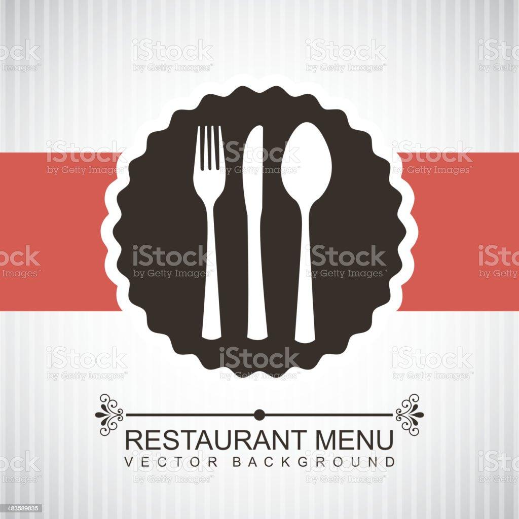 restaurant menu vector art illustration