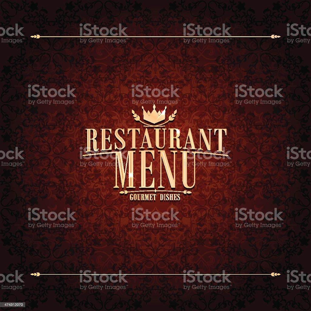 Restaurant Menu , vintage card vector art illustration