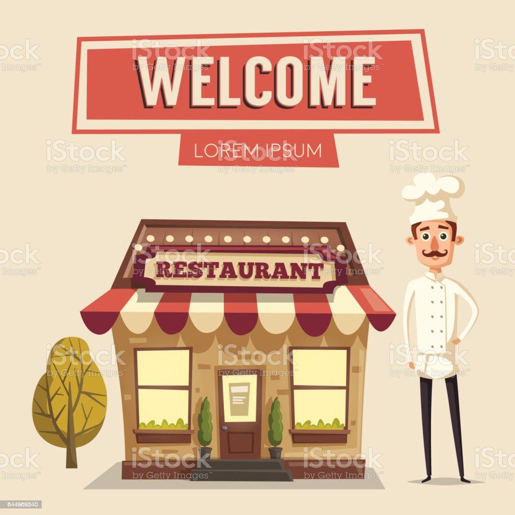 Cartoon restaurant free vector graphic download - Restaurant Or Cafe Exterior Building Vector Cartoon Illustration Royalty Free Stock Vector Art