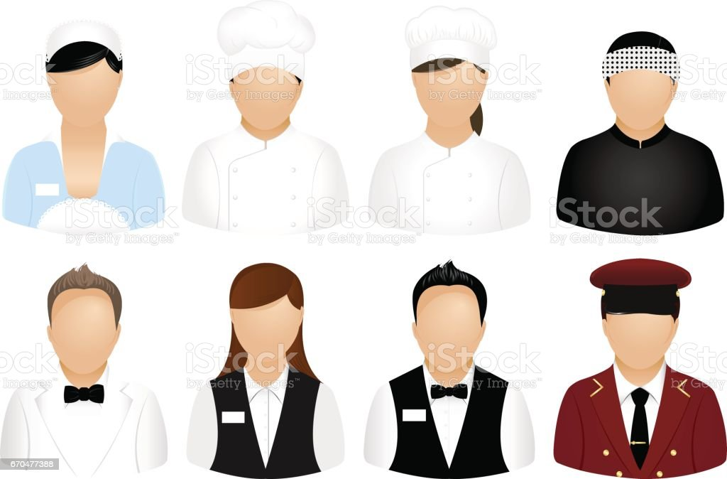 Restaurant People Icons vector art illustration