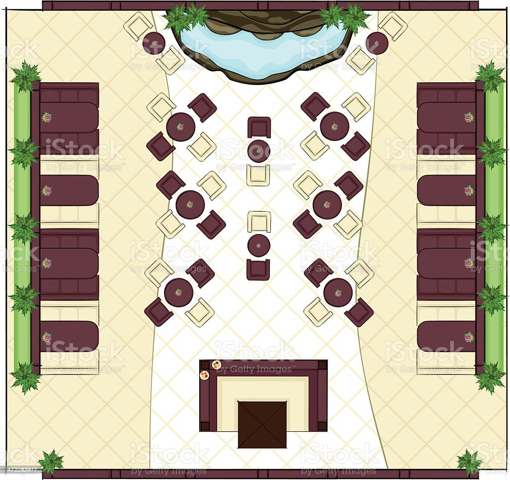 Restaurant Plan vector art illustration