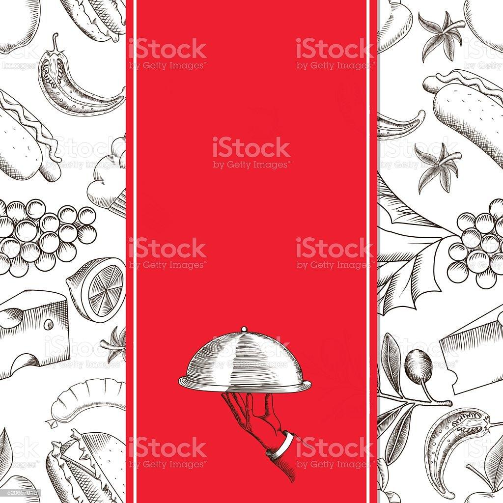 Restaurant Seamless Pattern 2 vector art illustration