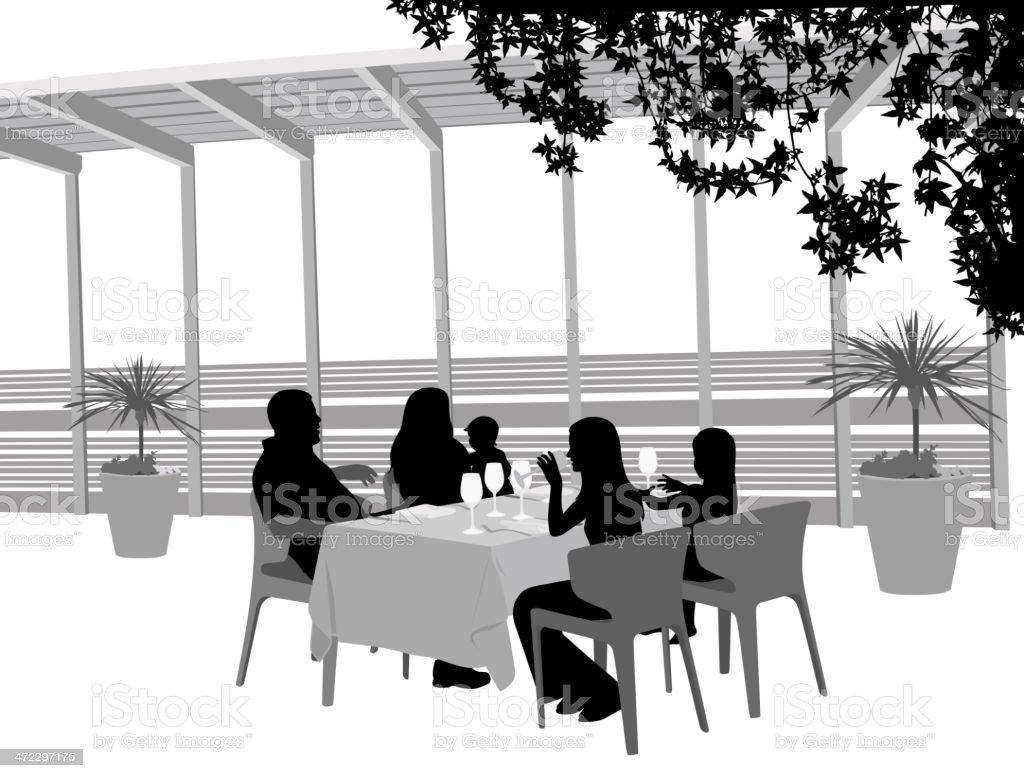 Restaurant Shade royalty-free stock vector art