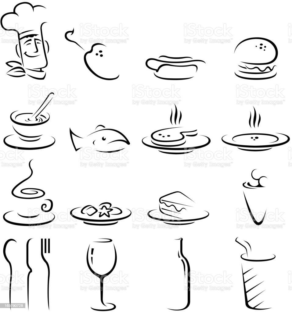 restaurant symbols royalty-free stock vector art