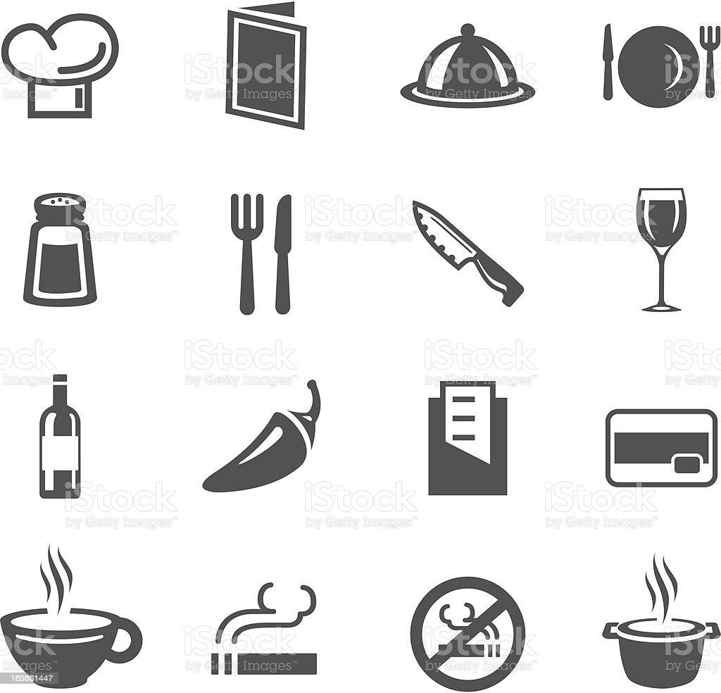 Restaurant Symbols vector art illustration