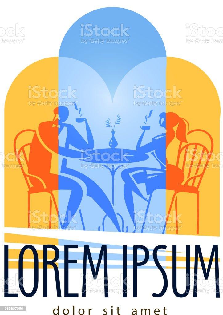 레스토랑 테이블 벡터 로고 디자인 템플릿 카페 또는 카페테리아 ...