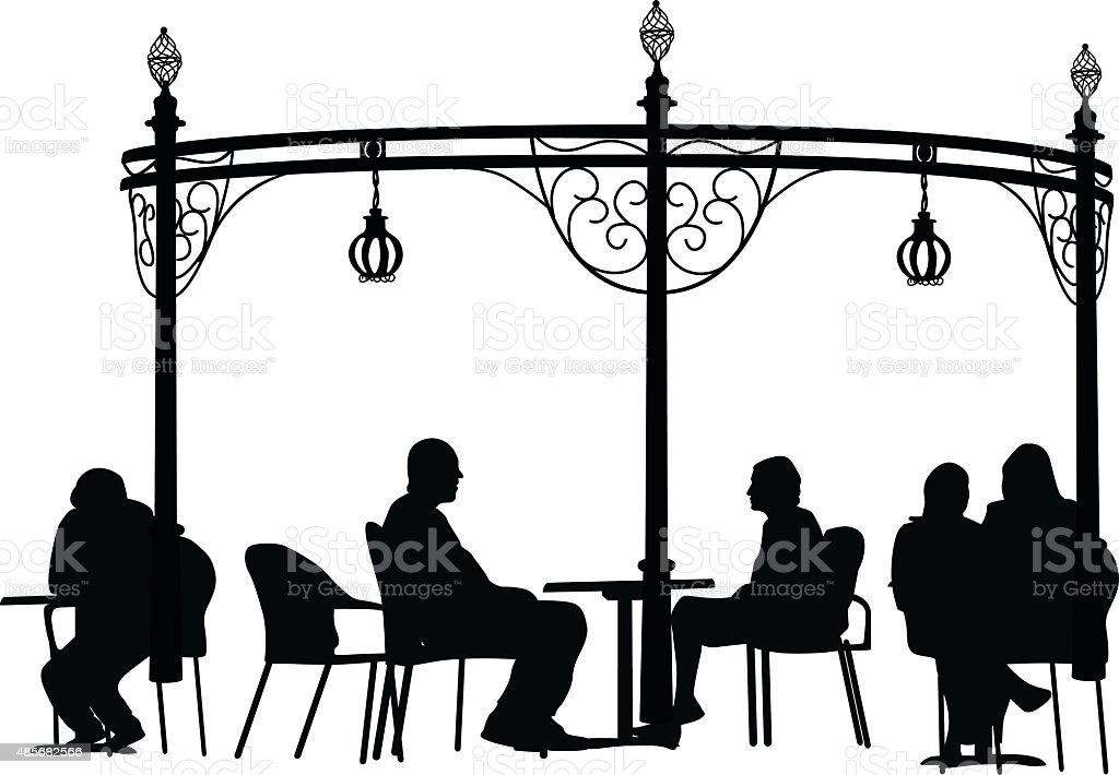 Restaurant Terrace Icon vector art illustration