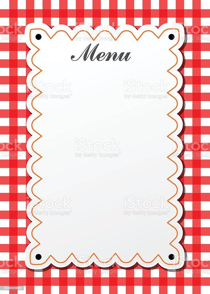 restaurant traditional menu vector art illustration