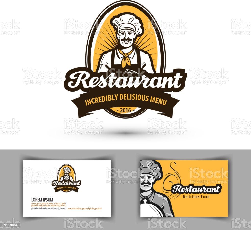 restaurant vector logo. cafe, diner, bistro icon vector art illustration