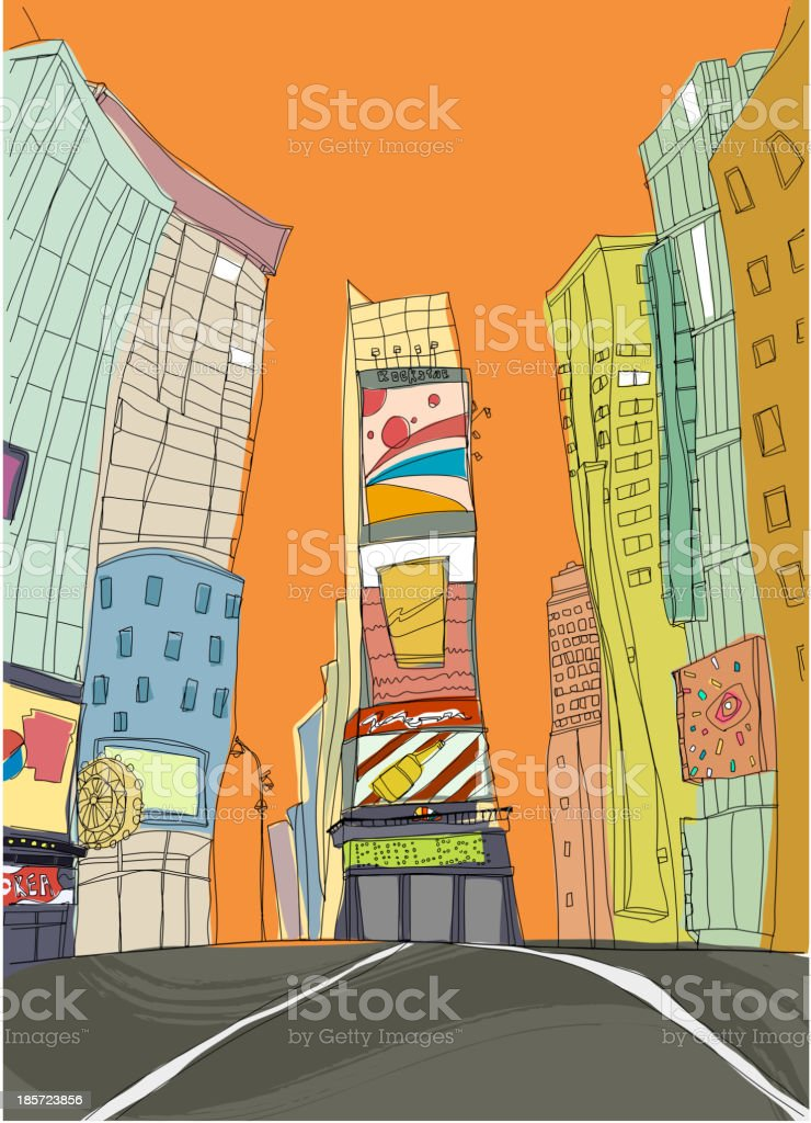 Restaurants and clubs in city royalty-free stock vector art
