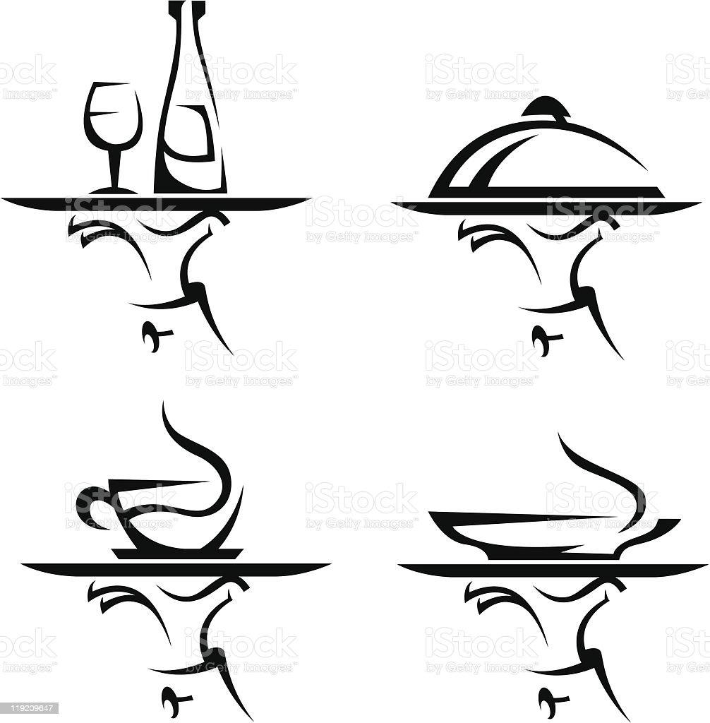 restaurants icon set royalty-free stock vector art
