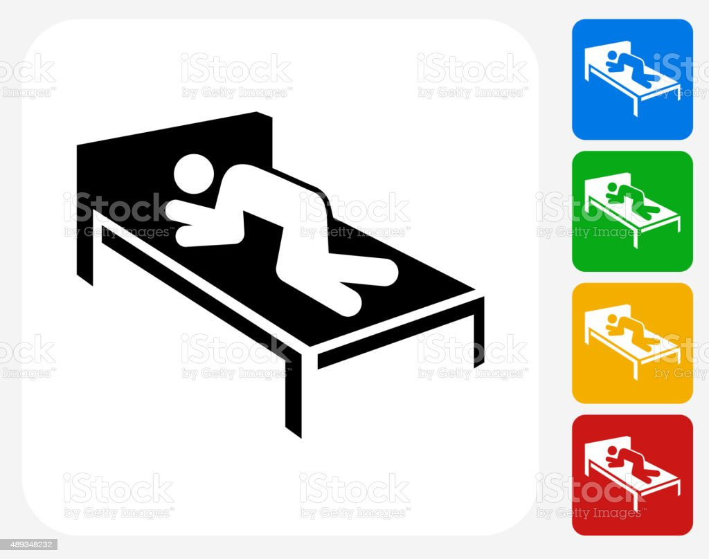 Resting Icon Flat Graphic Design vector art illustration