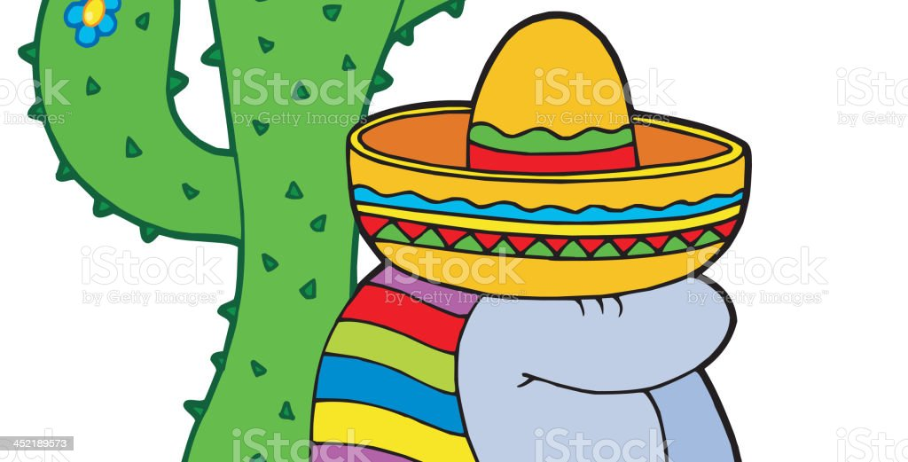 Resting mexican royalty-free stock vector art