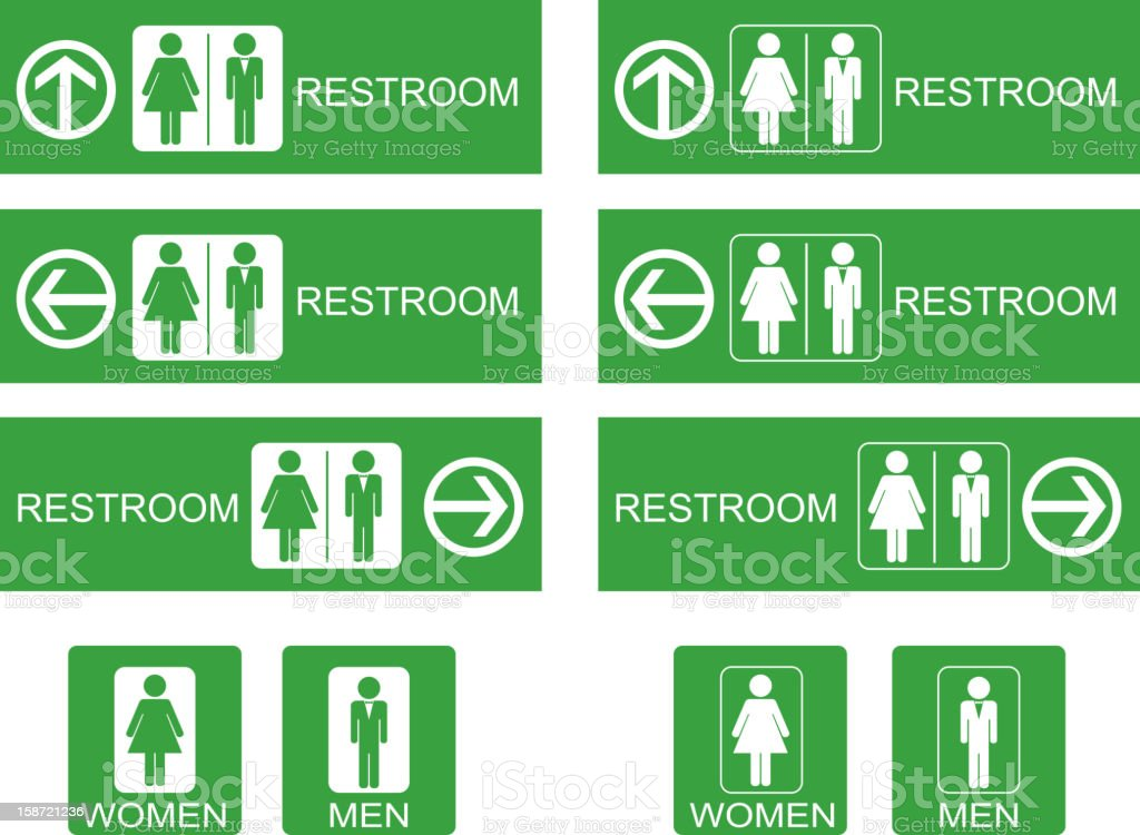 Restroom sign royalty-free stock vector art