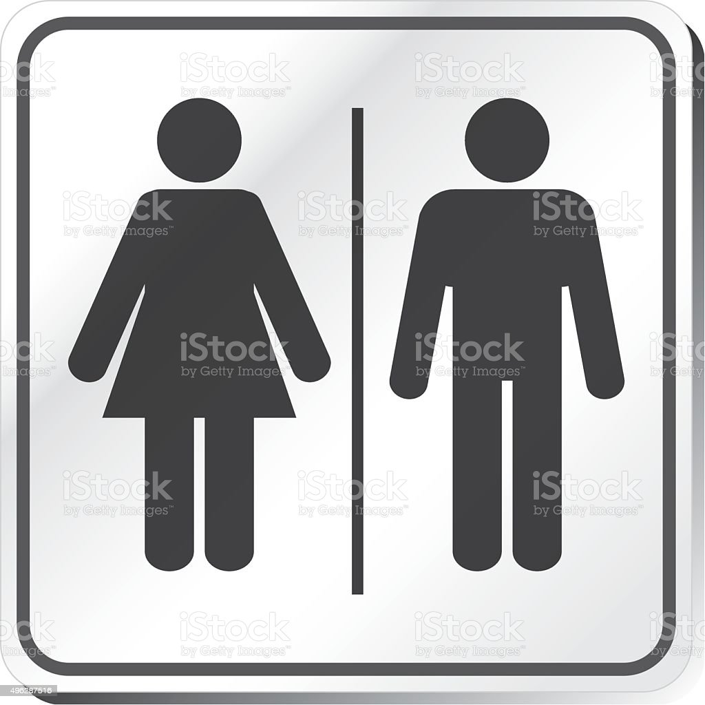 Restroom sign vector art illustration