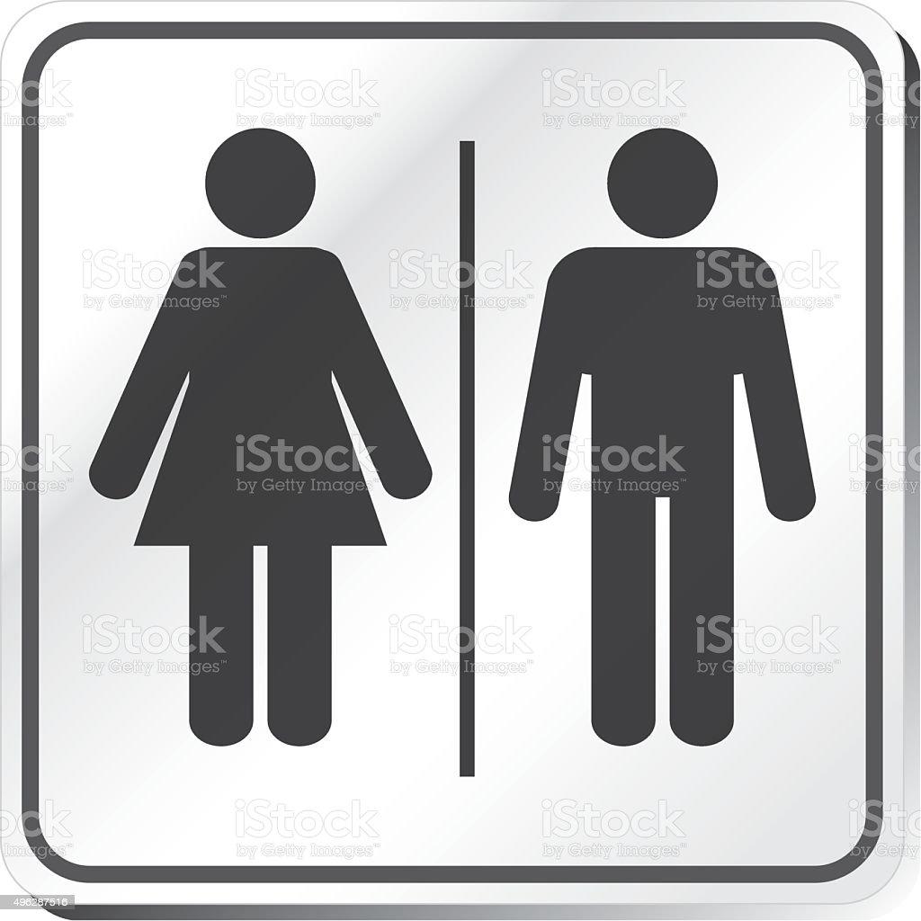 Restroom sign vector art illustration