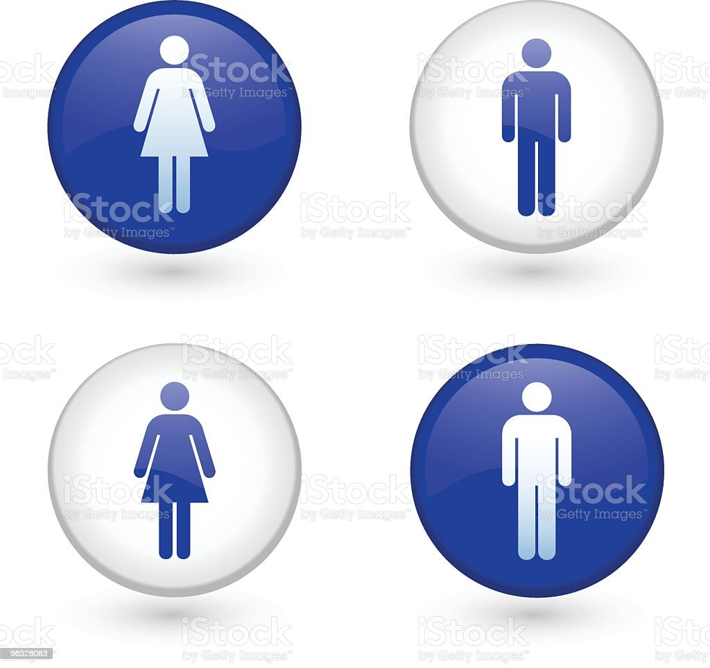 Restroom signs royalty-free stock vector art