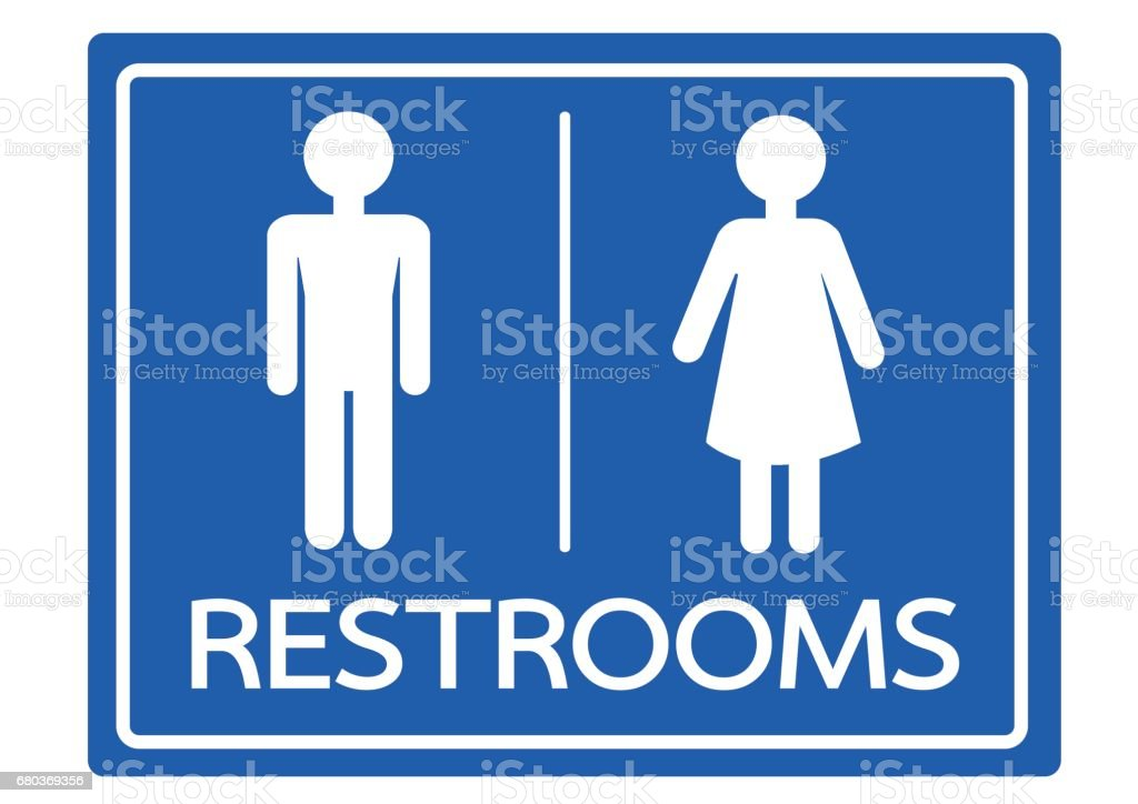 Bathroom Sign Male Vector restroom symbol male and female icon stock vector art 680369356