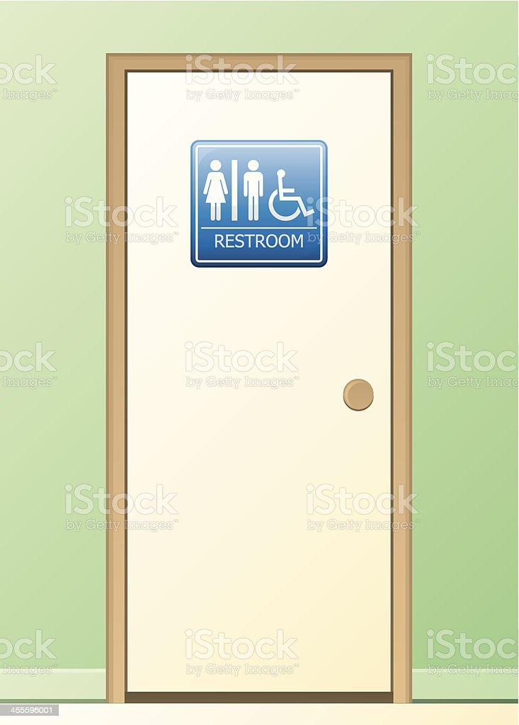 Restroom royalty-free stock vector art